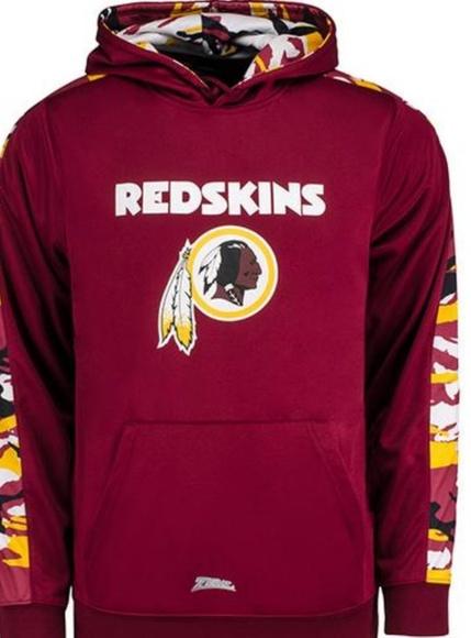 watch 18978 f8d4c Redskins camo hoodie NWT